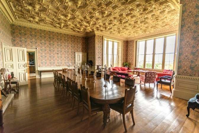 Ayton Castle - the dining room