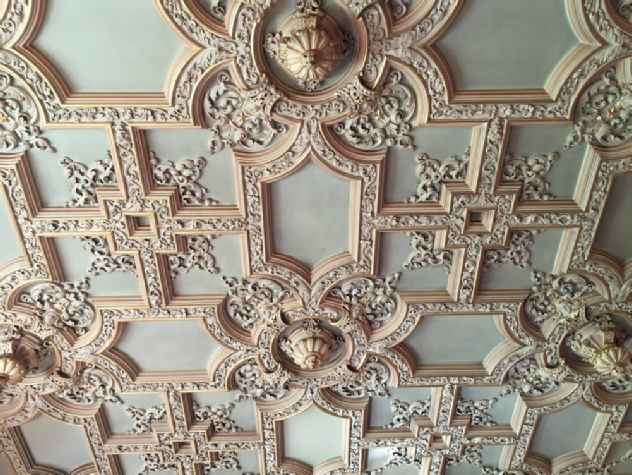 Dining Room ceiling, Ayton Castle